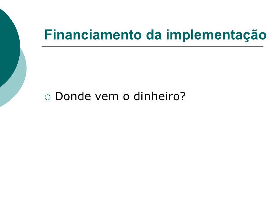 Financiamento da implementação