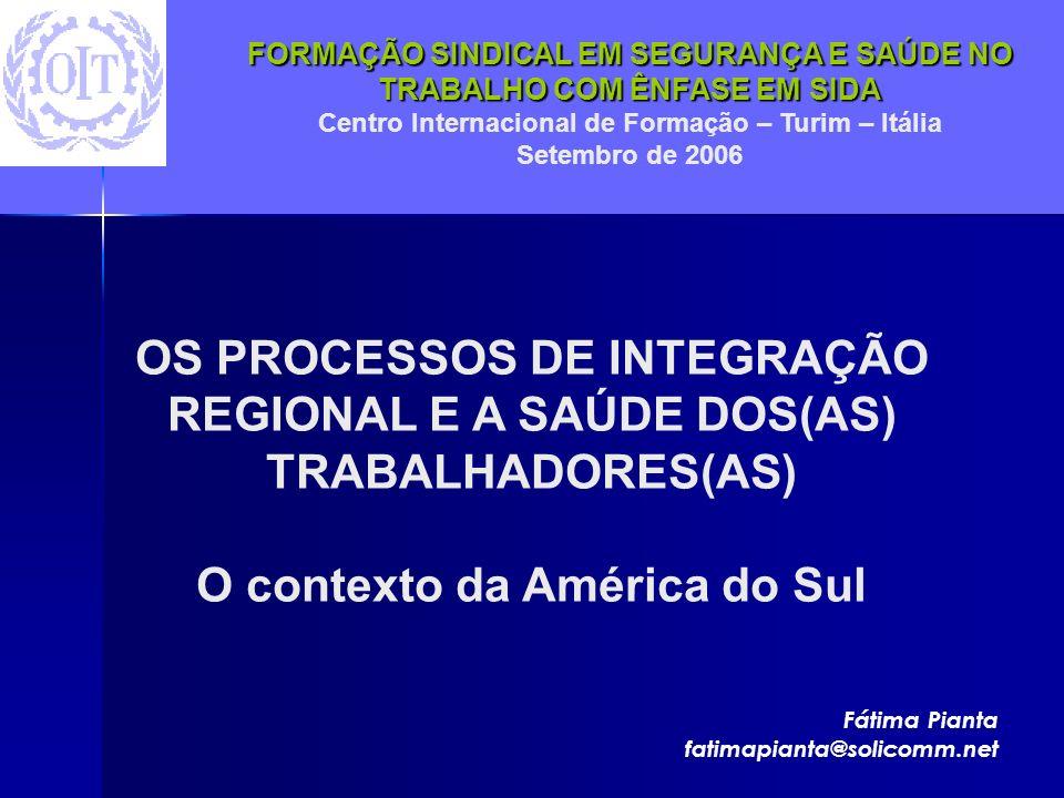 O contexto da América do Sul
