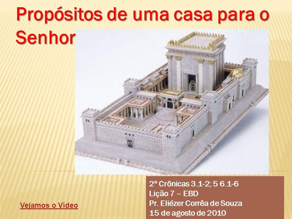 Propósitos de uma casa para o Senhor