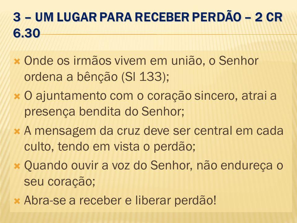 3 – UM LUGAR PARA RECEBER PERDÃO – 2 CR 6.30