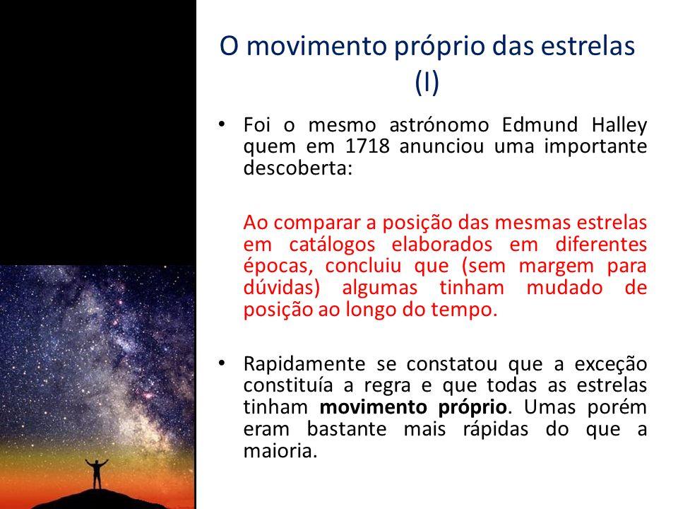 O movimento próprio das estrelas (I)