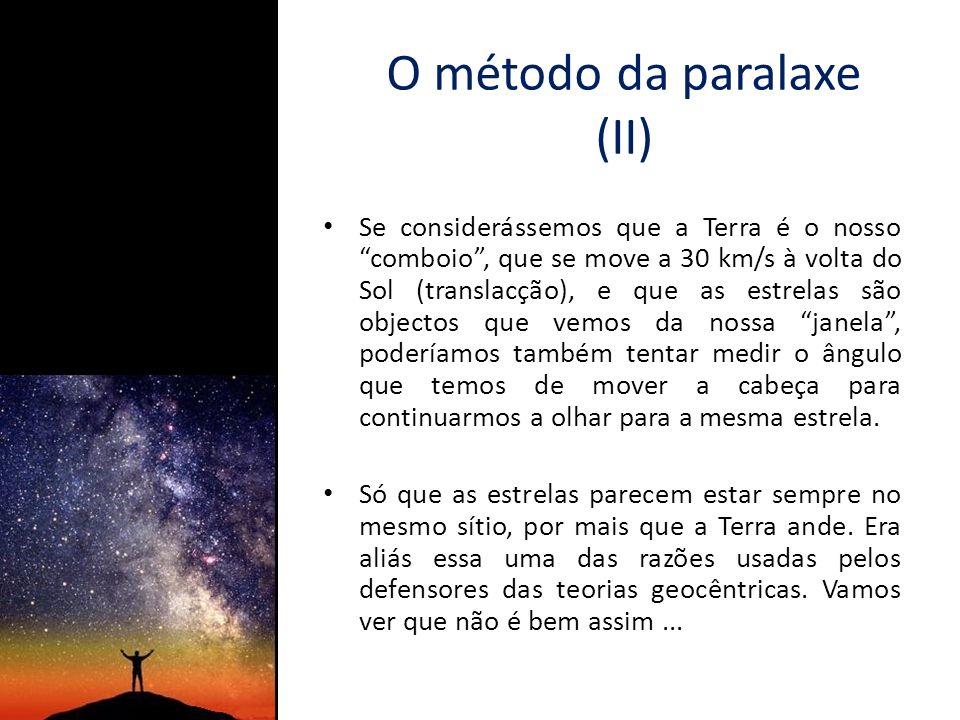 O método da paralaxe (II)