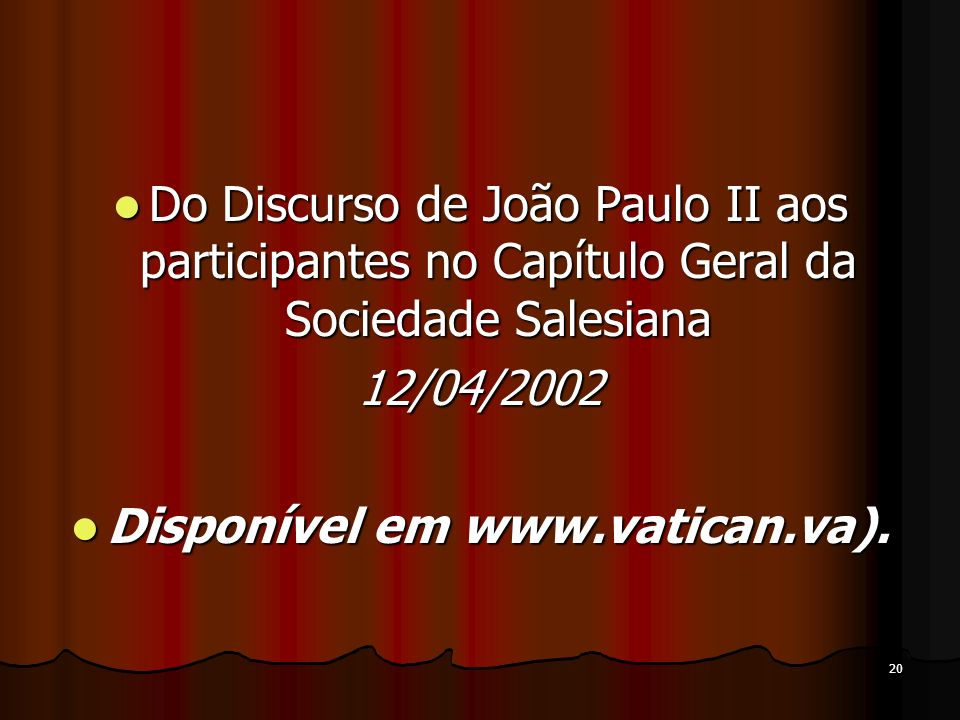 Disponível em www.vatican.va).