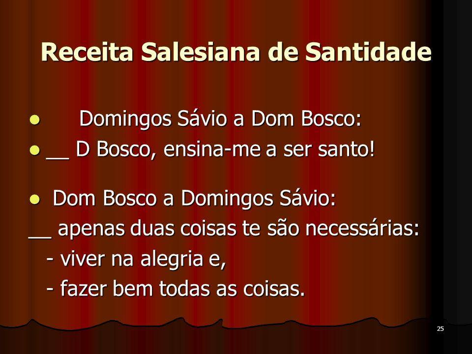 Receita Salesiana de Santidade