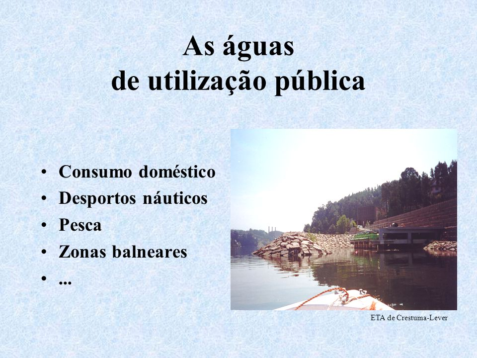 As águas de utilização pública