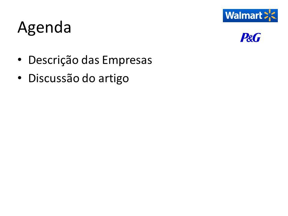 Agenda Descrição das Empresas Discussão do artigo