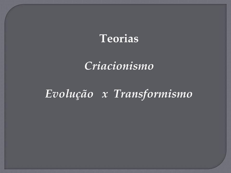 Evolução x Transformismo