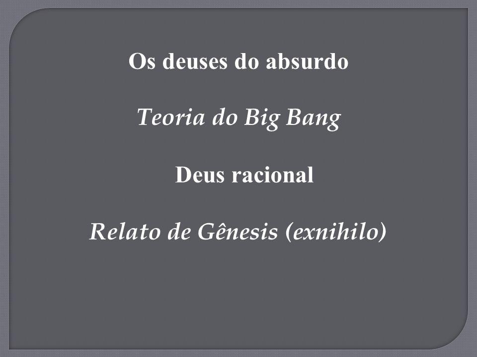 Relato de Gênesis (exnihilo)