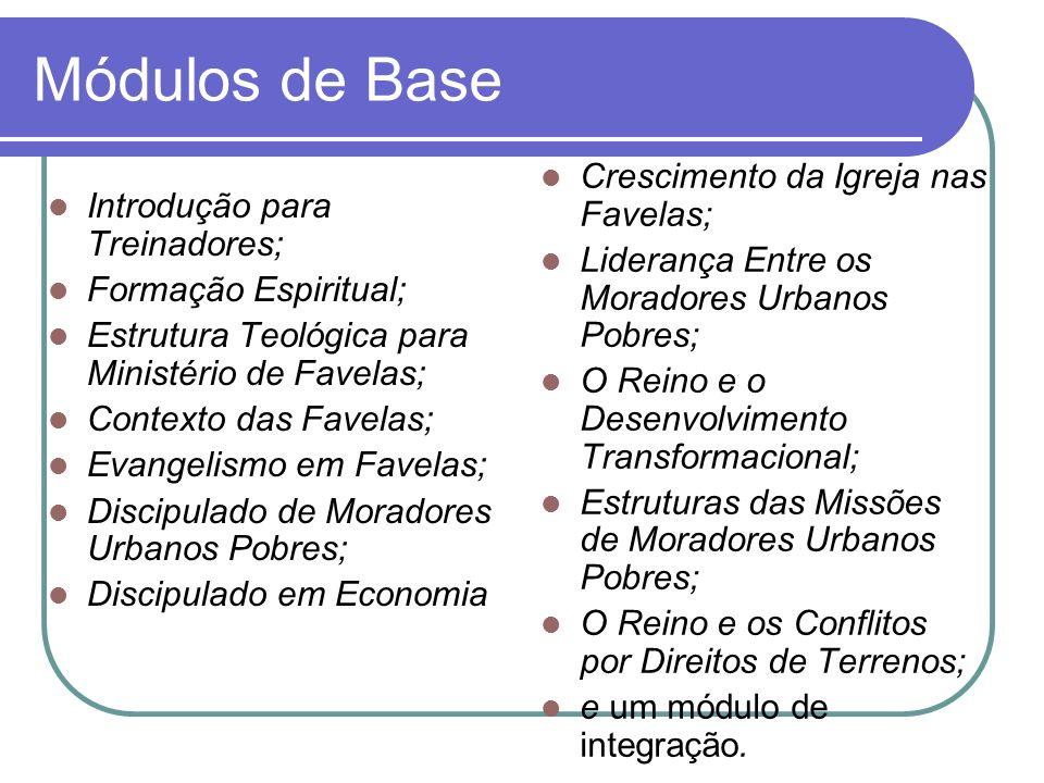 Módulos de Base Crescimento da Igreja nas Favelas;