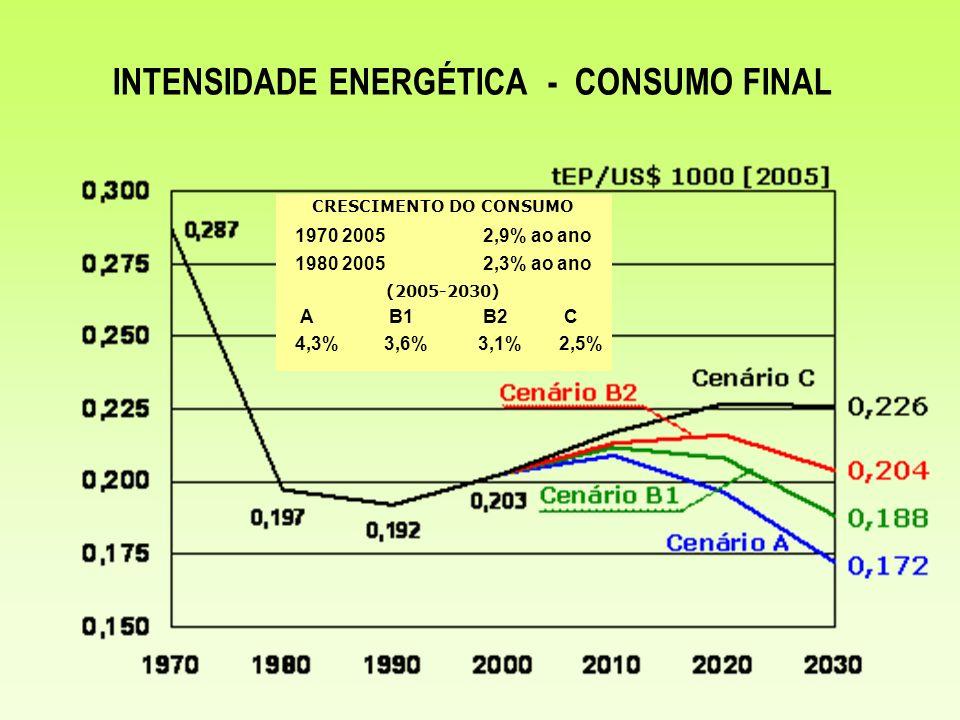 INTENSIDADE ENERGÉTICA - CONSUMO FINAL