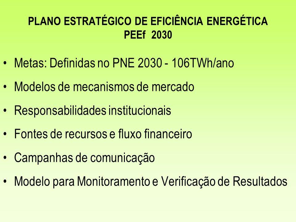 PLANO ESTRATÉGICO DE EFICIÊNCIA ENERGÉTICA PEEf 2030
