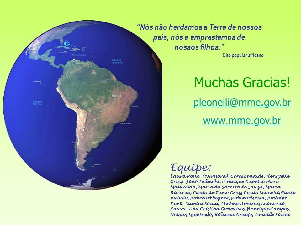 Muchas Gracias! pleonelli@mme.gov.br www.mme.gov.br Equipe:
