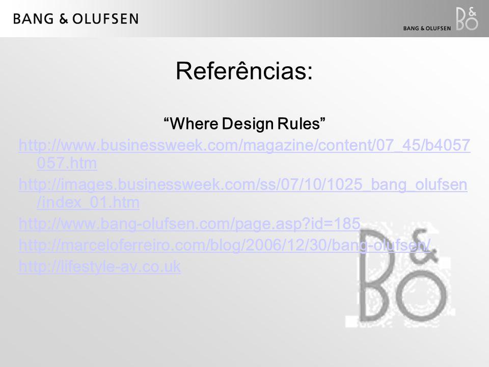 Referências: Where Design Rules