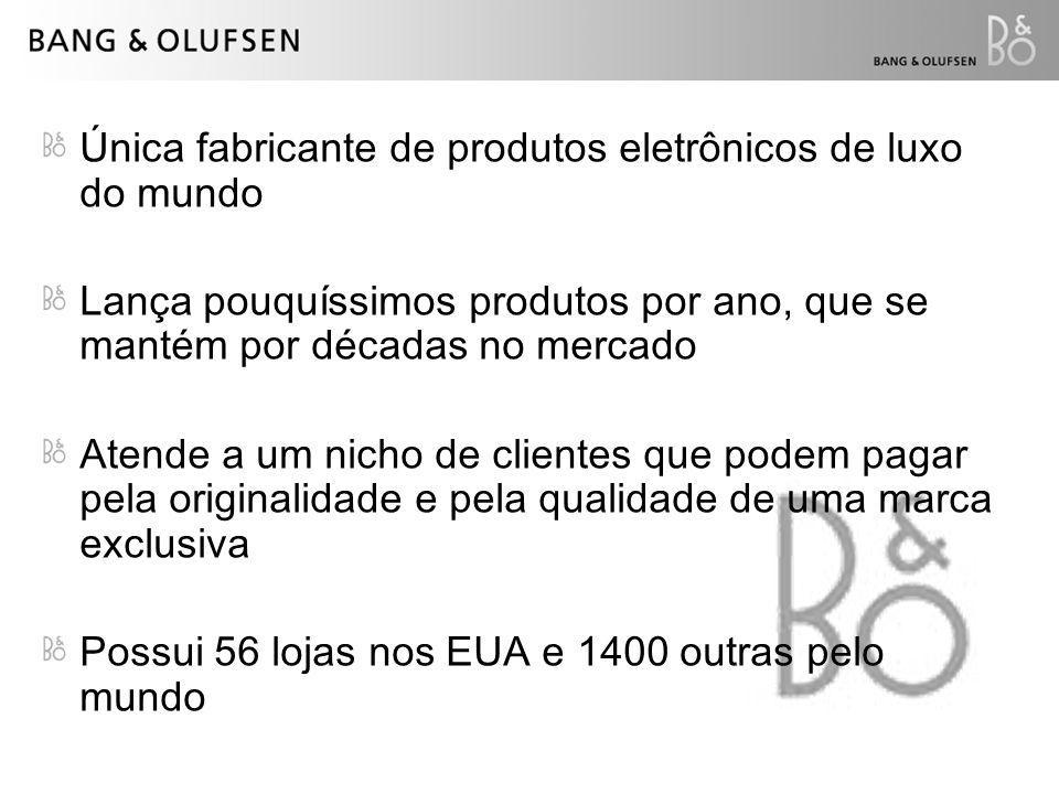 Única fabricante de produtos eletrônicos de luxo do mundo