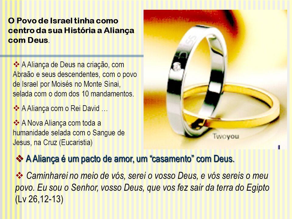 A Aliança é um pacto de amor, um casamento com Deus.