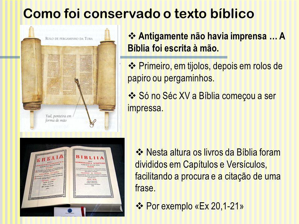 Como foi conservado o texto bíblico
