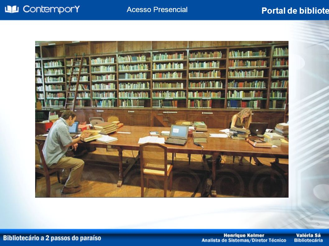 Acesso Presencial Portal de biblioteca