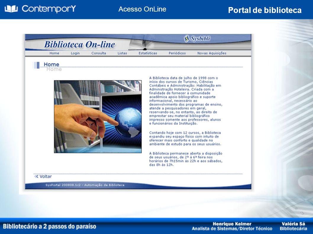 Acesso OnLine Portal de biblioteca