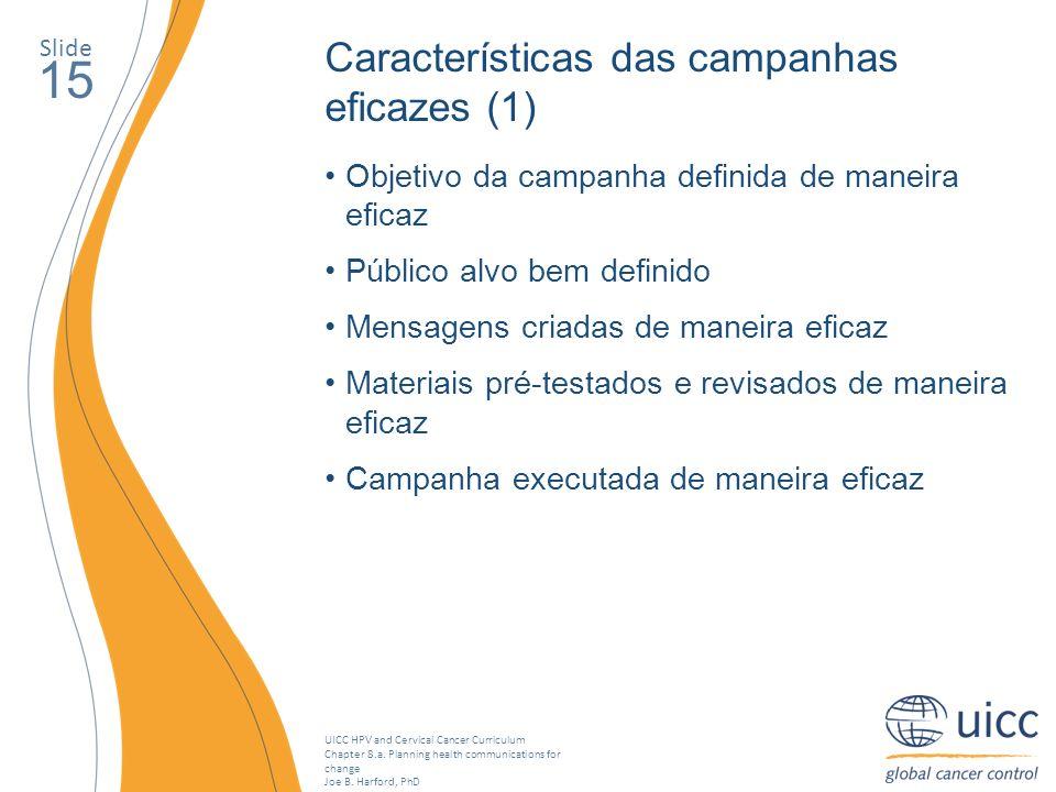 15 Características das campanhas eficazes (1)