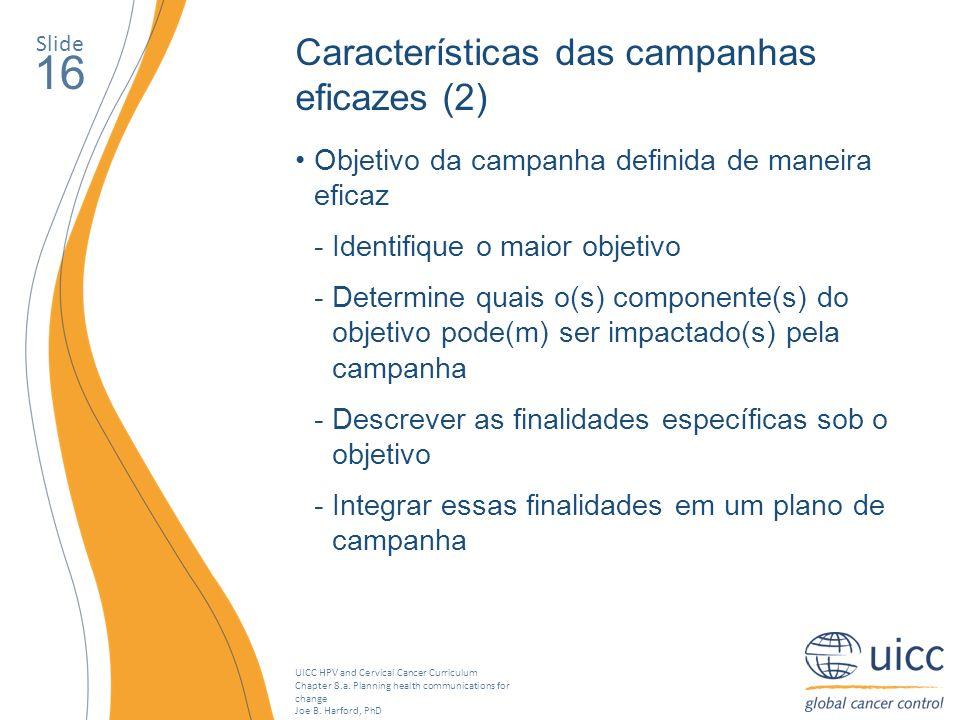 16 Características das campanhas eficazes (2)