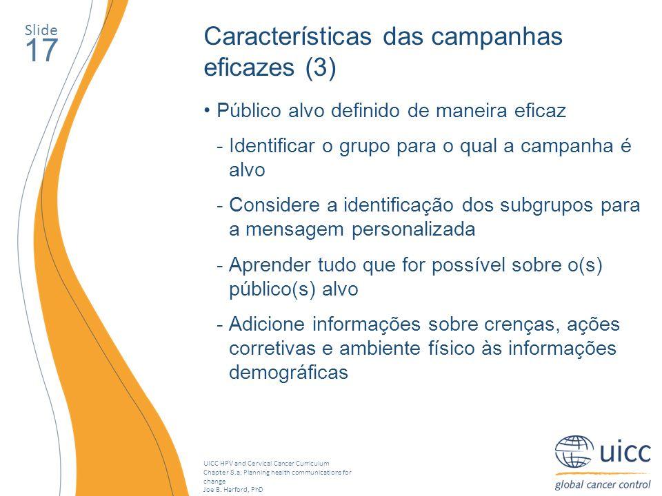 17 Características das campanhas eficazes (3)