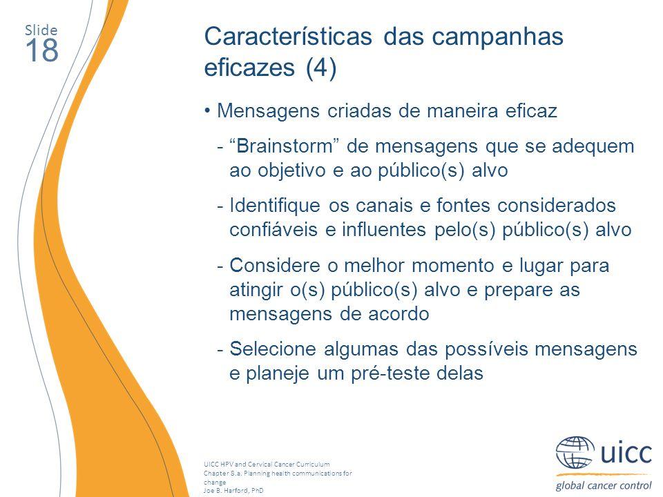 18 Características das campanhas eficazes (4)