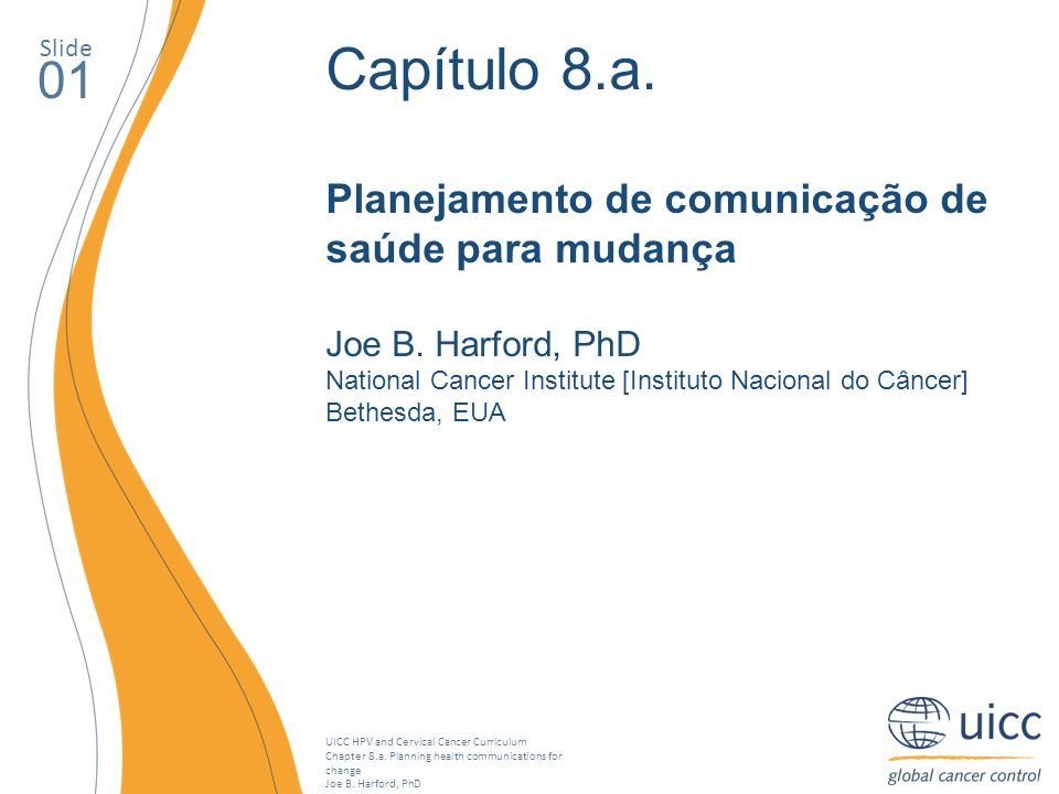 Capítulo 8.a. 01 Planejamento de comunicação de saúde para mudança