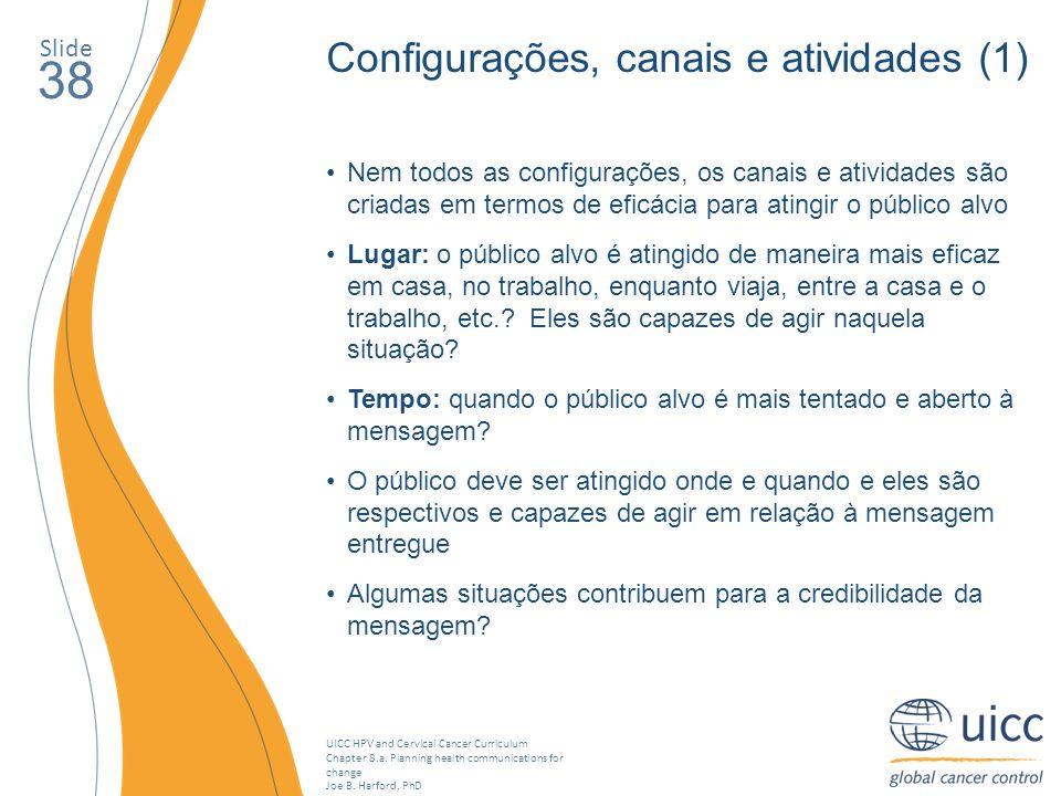 38 Configurações, canais e atividades (1) Slide