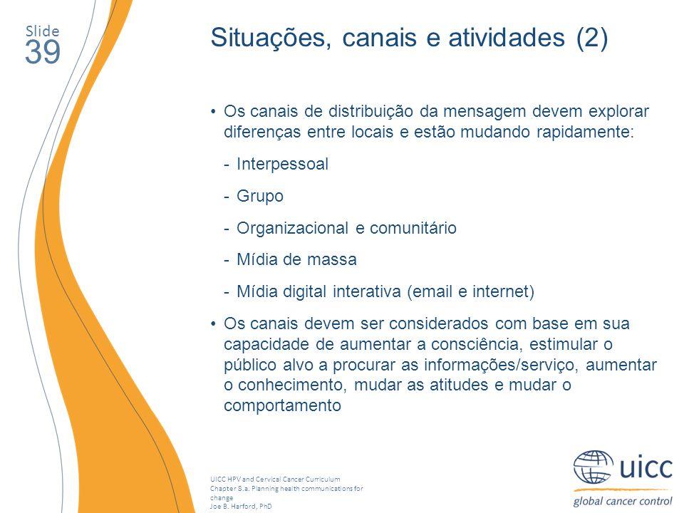 39 Situações, canais e atividades (2) Slide