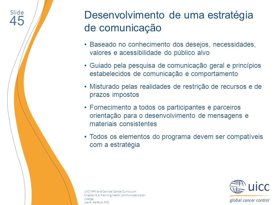 45 Desenvolvimento de uma estratégia de comunicação Slide