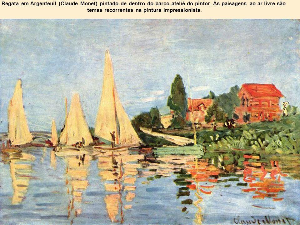 temas recorrentes na pintura impressionista.
