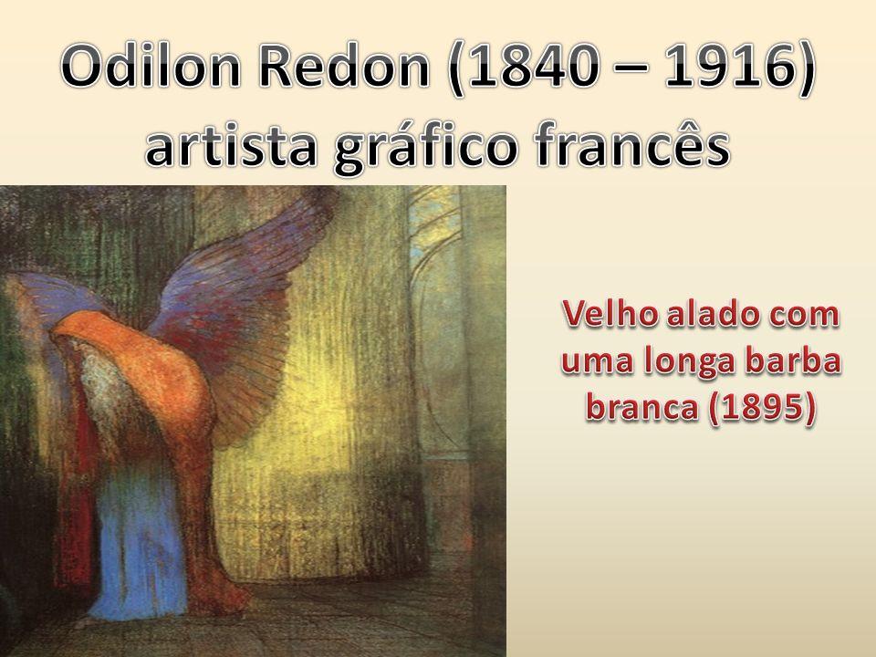artista gráfico francês Velho alado com uma longa barba branca (1895)