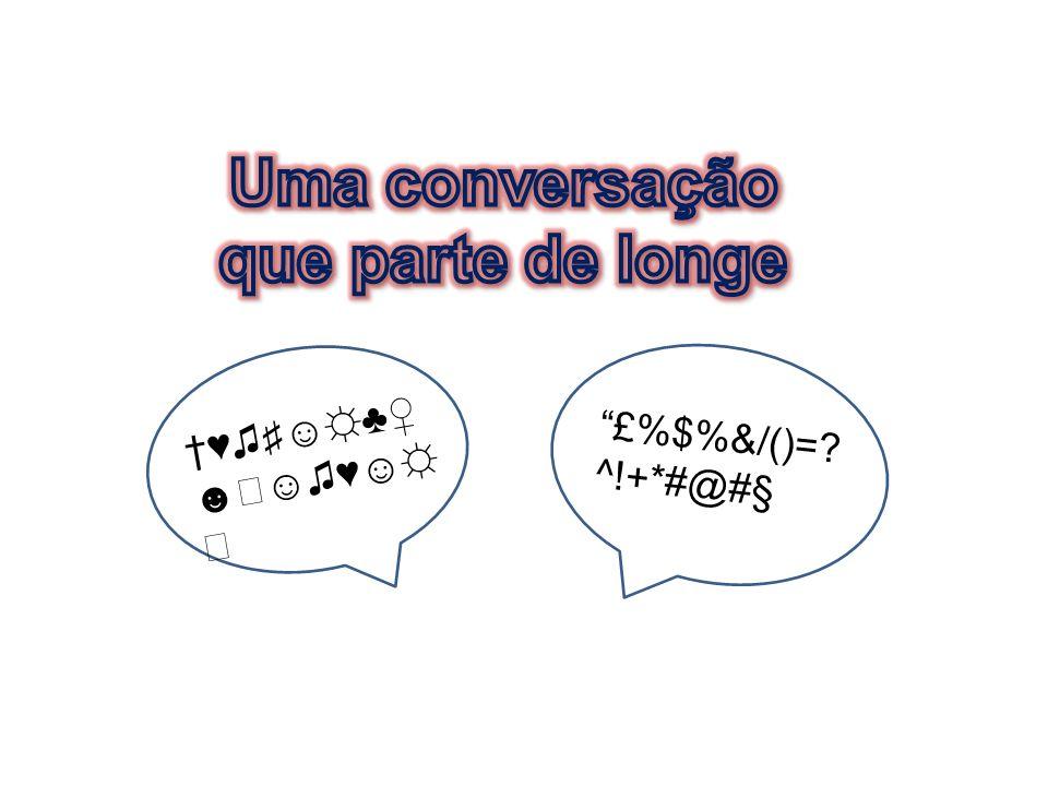 Uma conversação que parte de longe