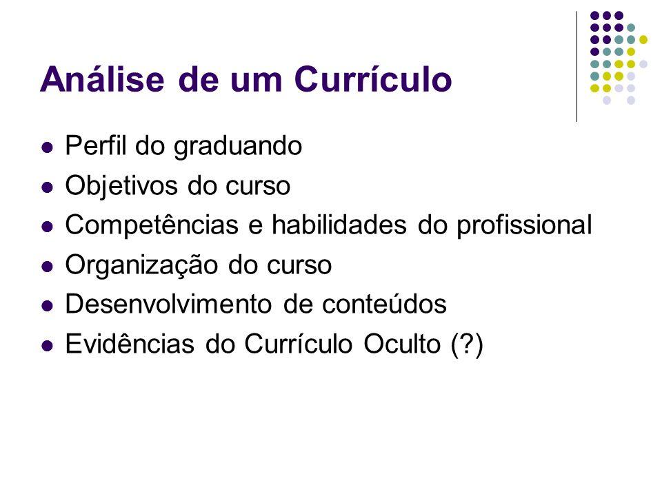 Análise de um Currículo