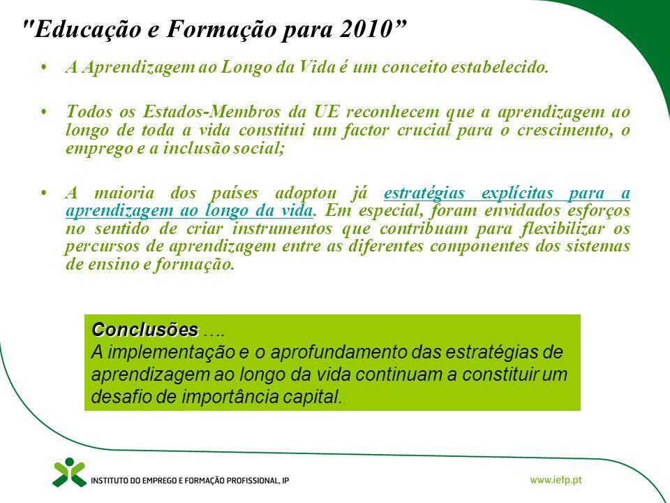 Educação e Formação para 2010