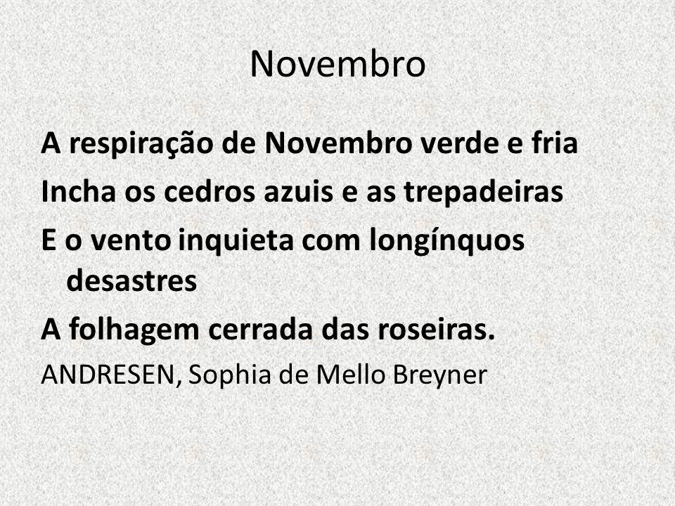 Novembro A respiração de Novembro verde e fria