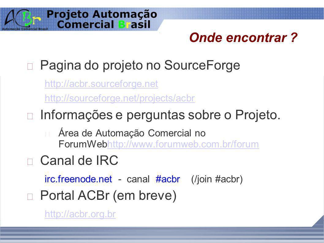 Pagina do projeto no SourceForge