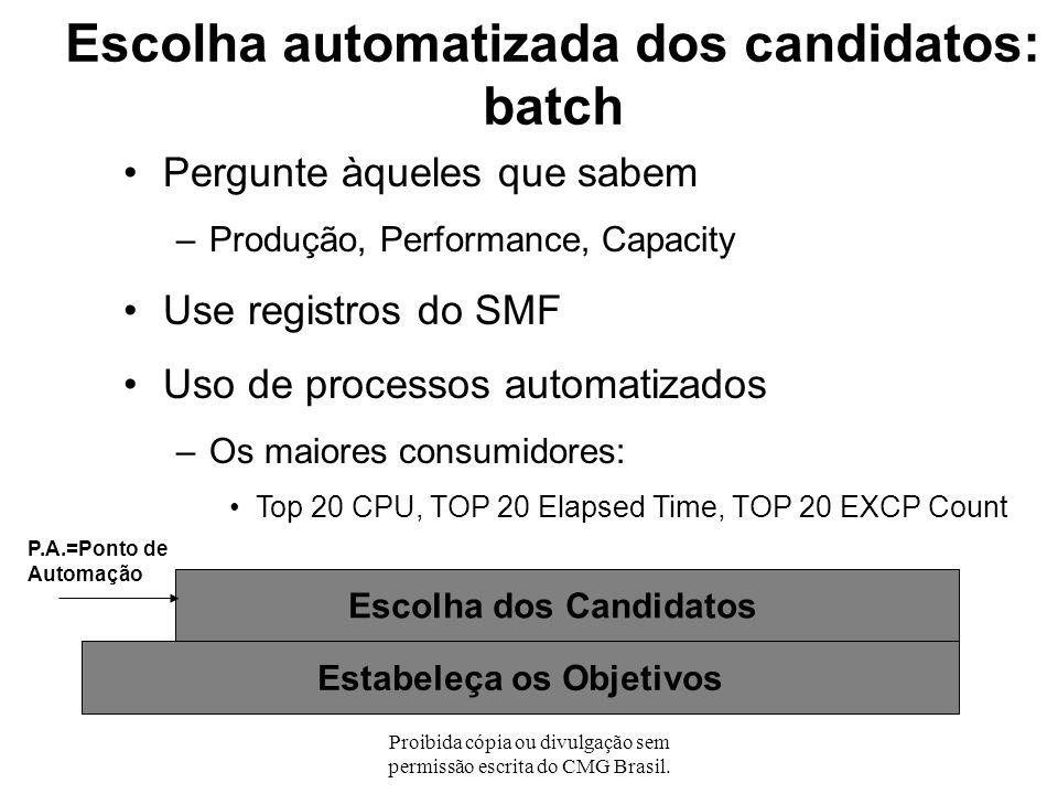 Escolha automatizada dos candidatos: batch