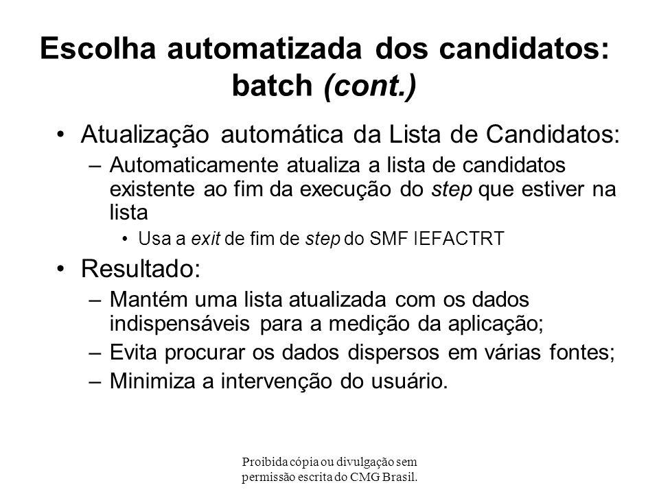 Escolha automatizada dos candidatos: batch (cont.)