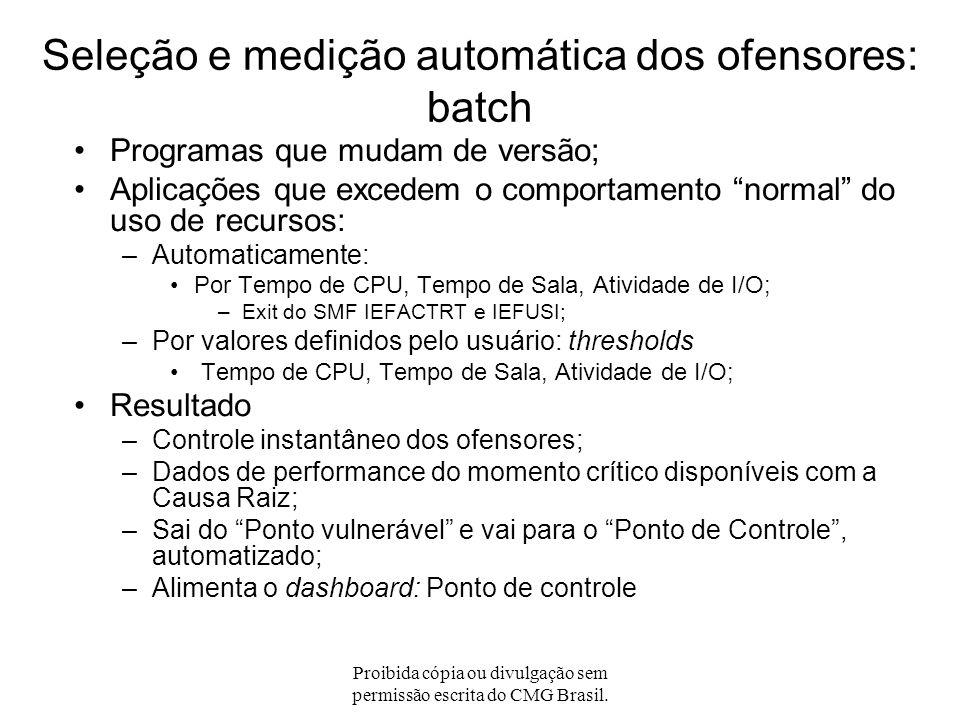 Seleção e medição automática dos ofensores: batch