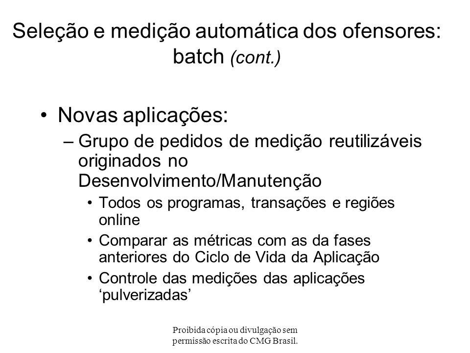 Seleção e medição automática dos ofensores: batch (cont.)