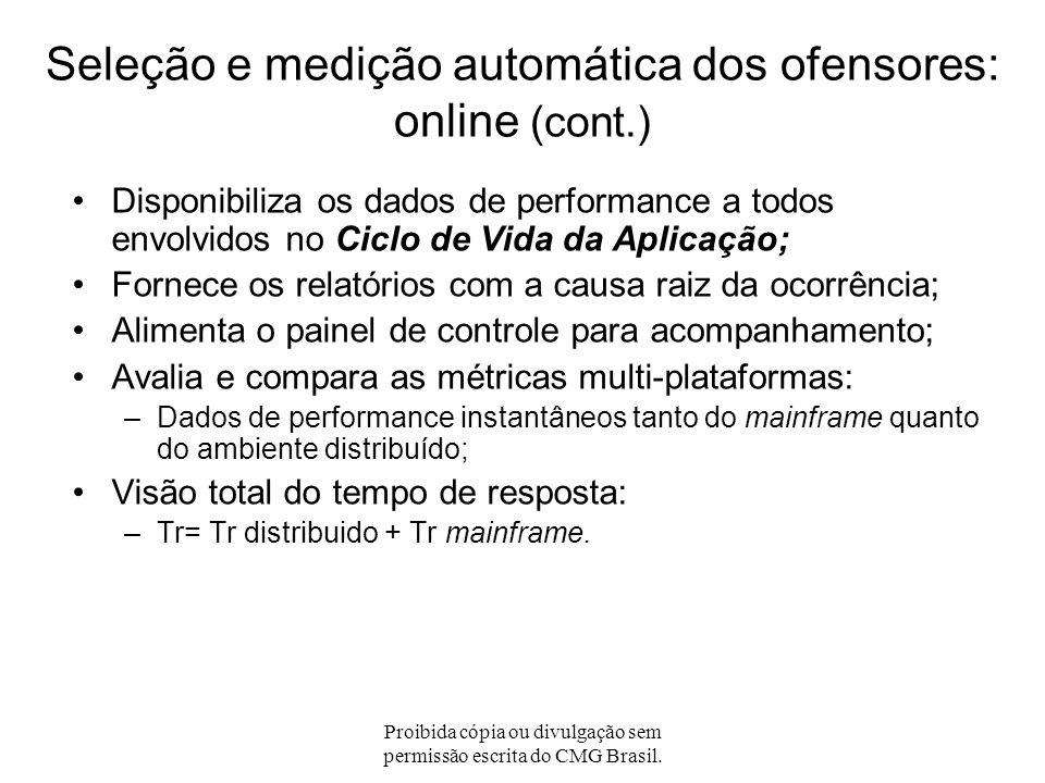 Seleção e medição automática dos ofensores: online (cont.)