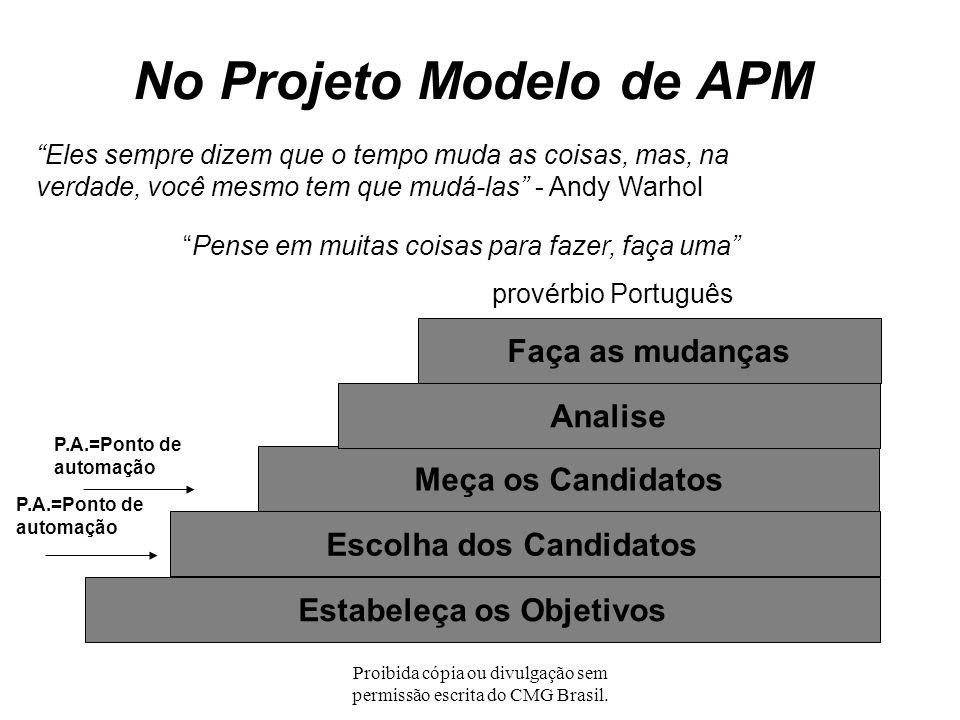 No Projeto Modelo de APM