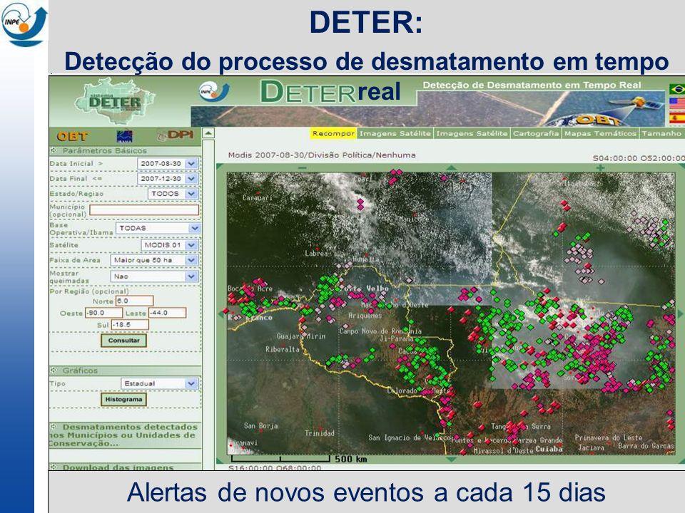 Detecção do processo de desmatamento em tempo real