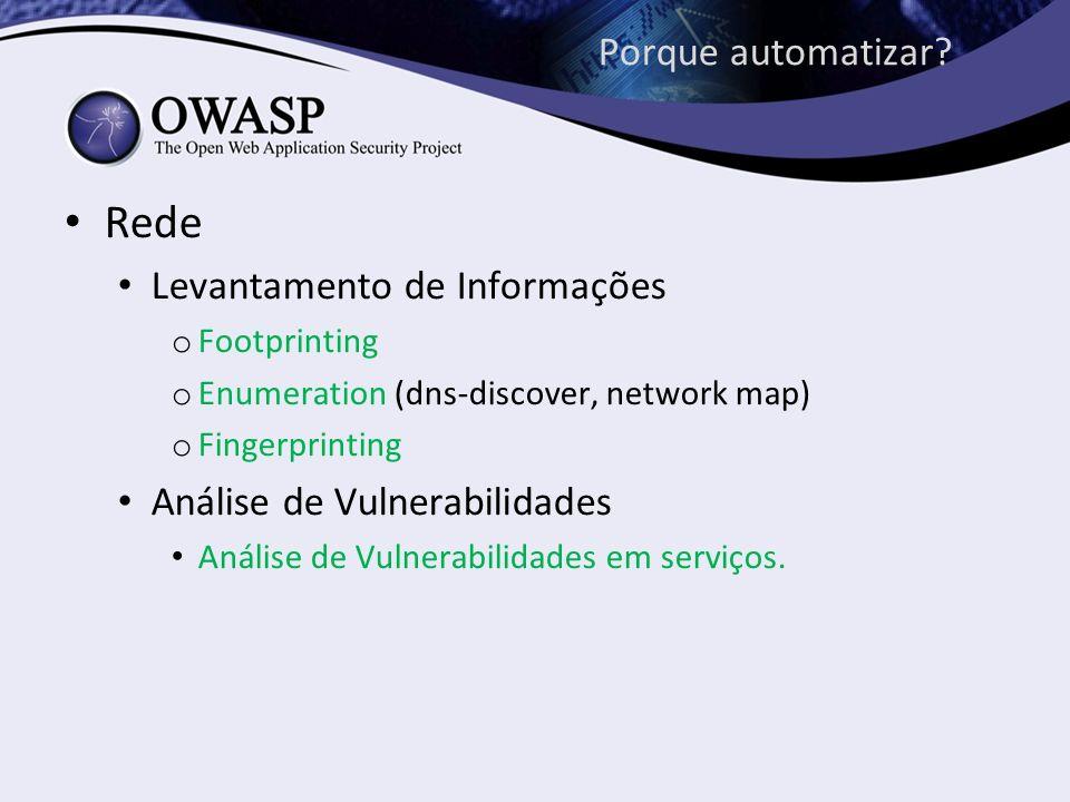 Rede Porque automatizar Levantamento de Informações
