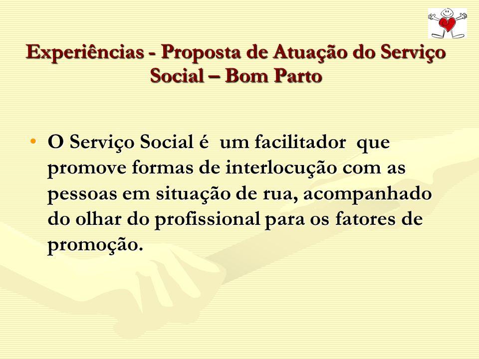 Experiências - Proposta de Atuação do Serviço Social – Bom Parto