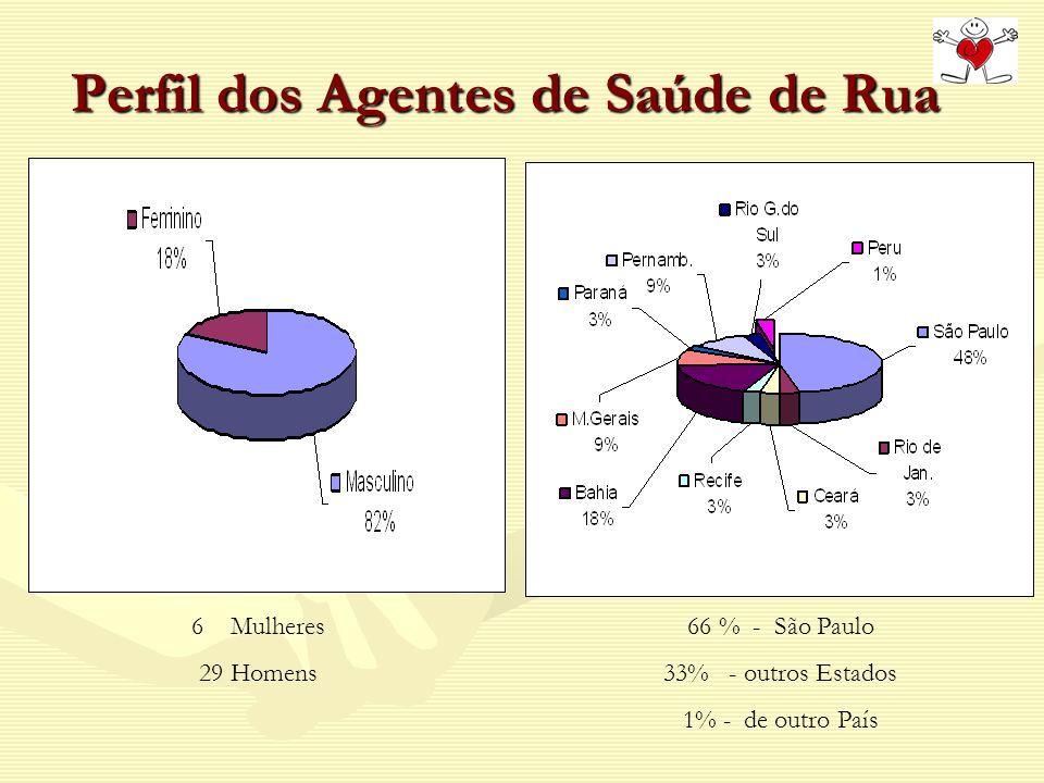 Perfil dos Agentes de Saúde de Rua