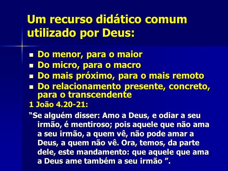 Um recurso didático comum utilizado por Deus: