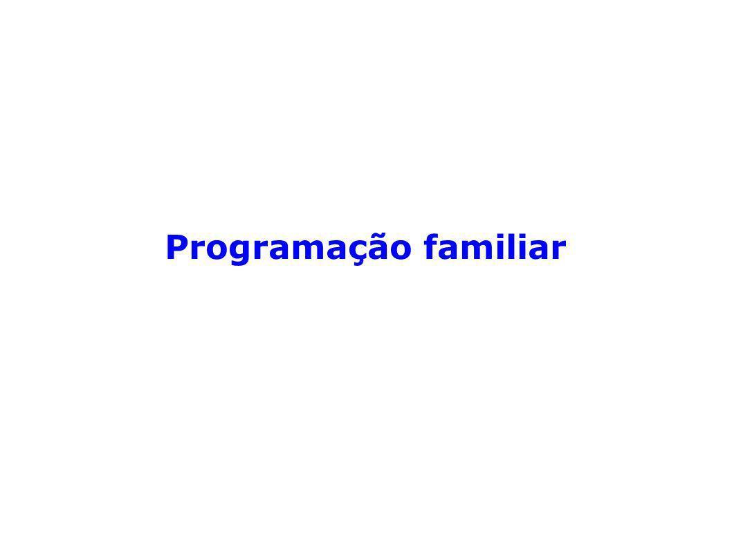 Programação familiar