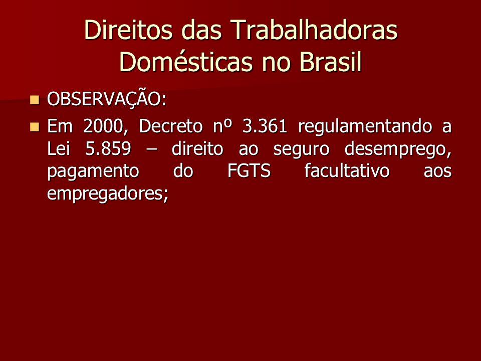 Direitos das Trabalhadoras Domésticas no Brasil